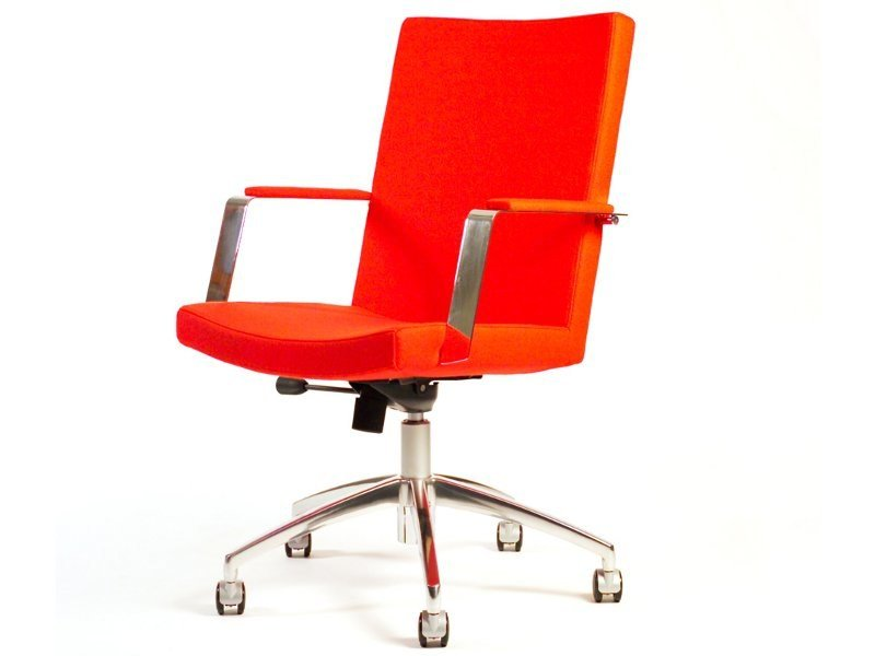 Swivel chair with armrests with casters MEETING by Inno