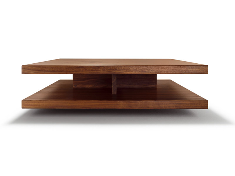 Low square wooden coffee table C3 by TEAM 7