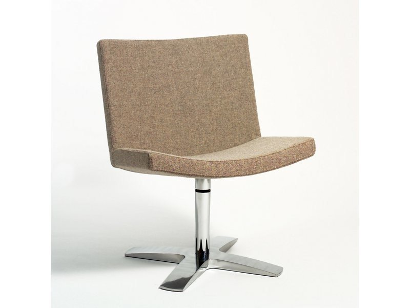 Upholstered easy chair with 4-spoke base SOFT | Easy chair with 4-spoke base by Inno