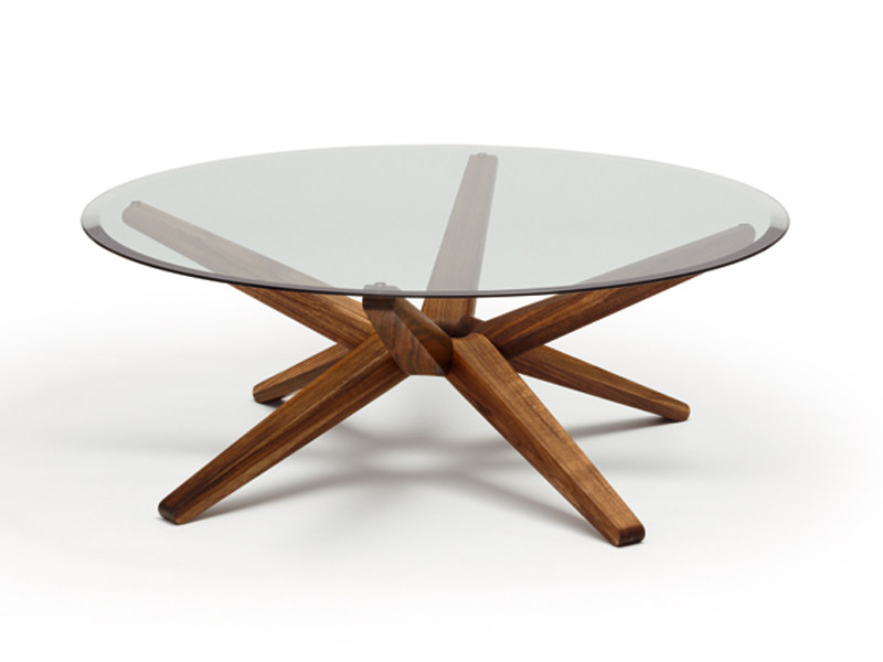 Low round glass coffee table STERN by TEAM 7