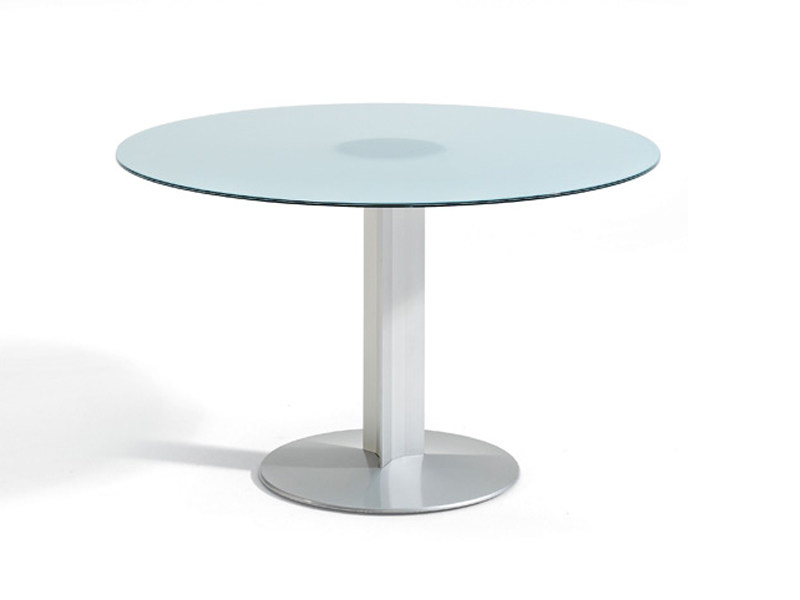 Glass table / meeting table PEANA | Round table by ACTIU