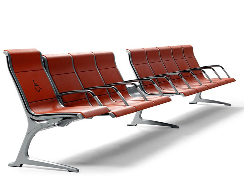 Beam seating with armrests PASSPORT by ACTIU