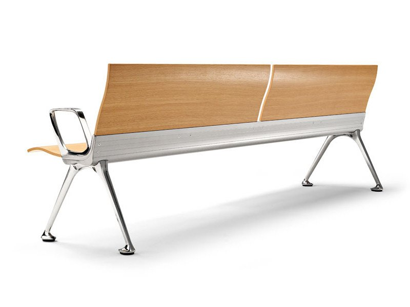 Beam seating with armrests TRANSIT by ACTIU