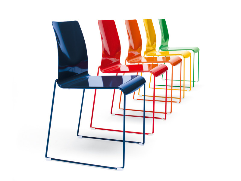 Metal chair, stackable, flame retardant CAMILLA | Chair by YDF