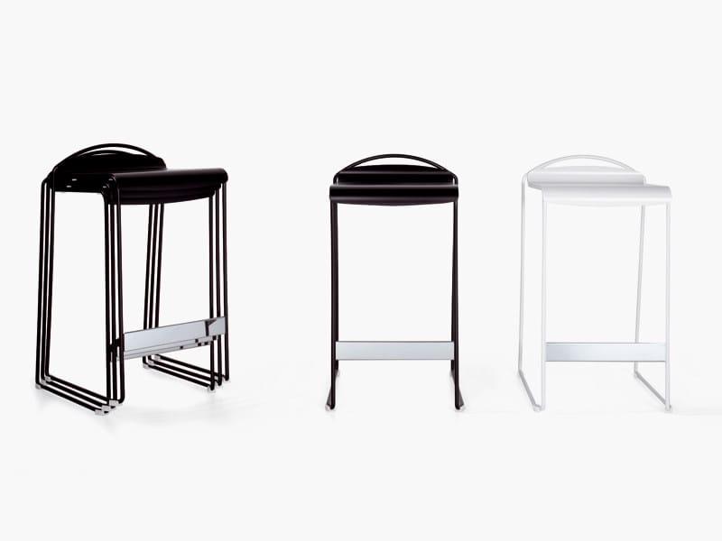 Sled base stackable aluminium stool CAMILLA | Stool by YDF