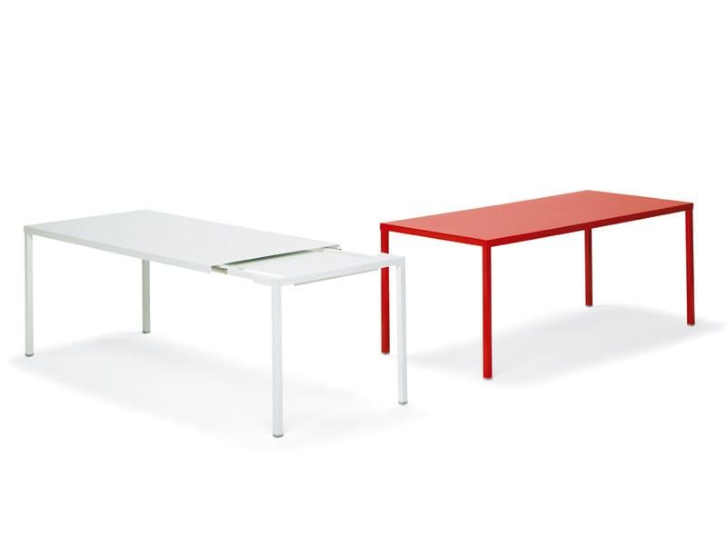 Extending aluminium table ERNESTO + by YDF