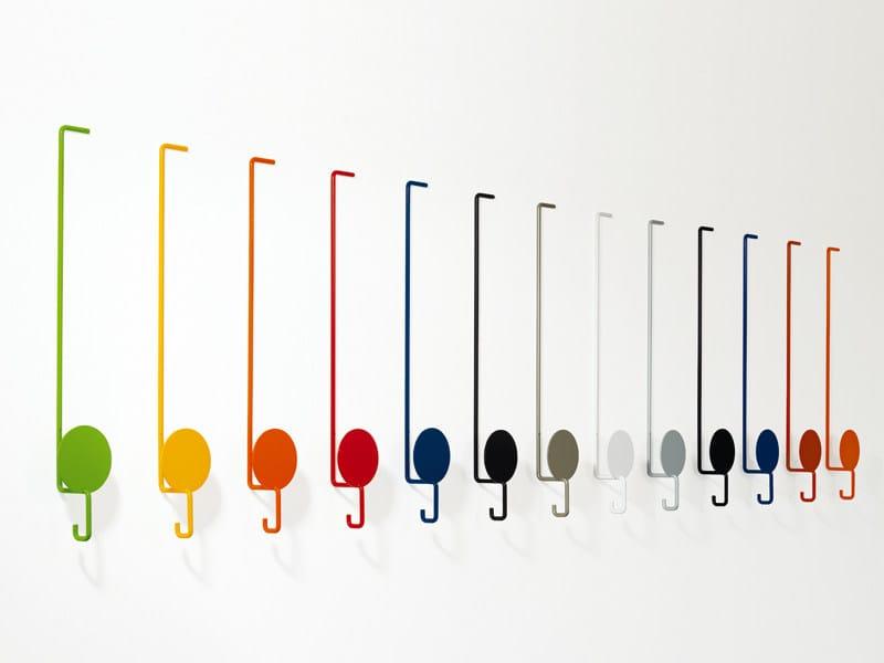 Wall-mounted metal coat rack SUN by YDF