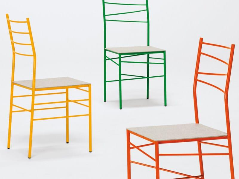 Ergonomic metal chair GINGER by YDF