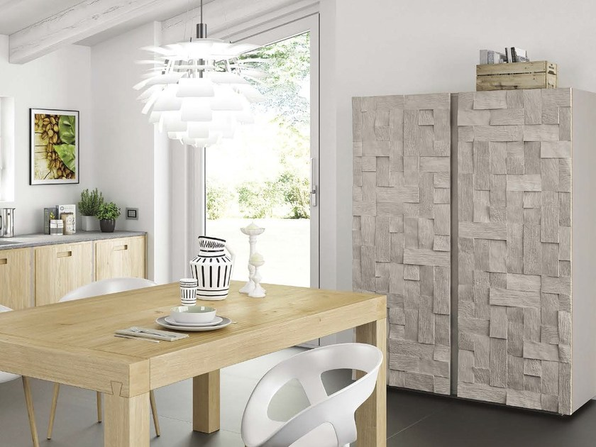 Wooden highboard with doors WOODPLAYER by Domus Arte