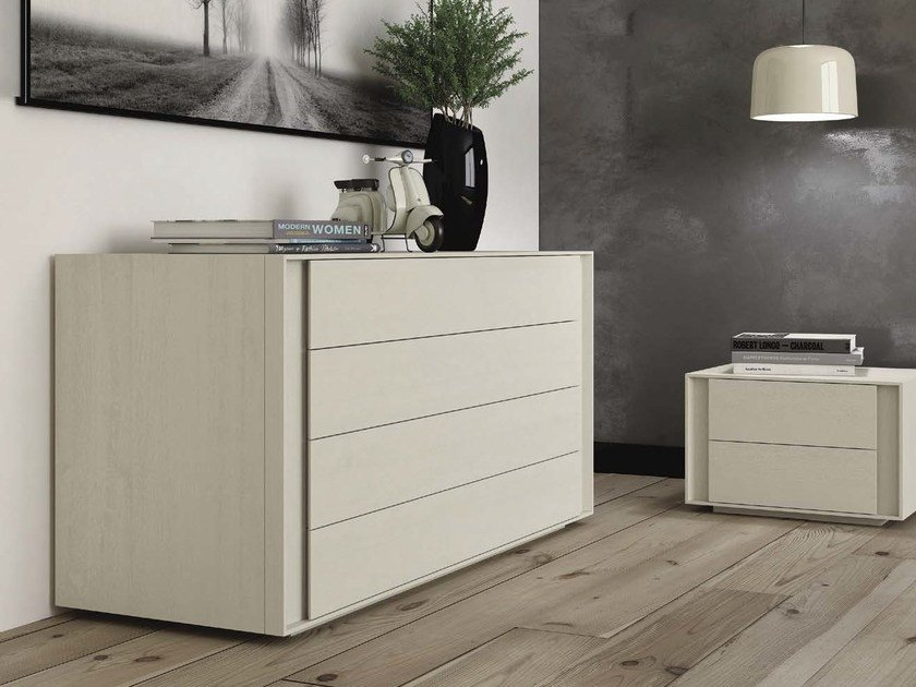 Wooden chest of drawers BERLINO by Domus Arte