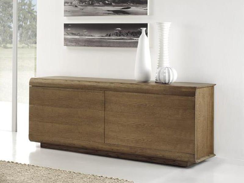 Oak sideboard with doors BAUL by Domus Arte