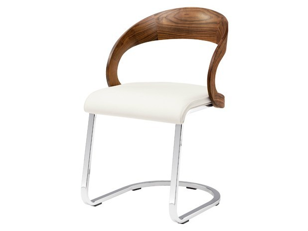 Cantilever upholstered chair GIRADO | Cantilever chair by TEAM 7