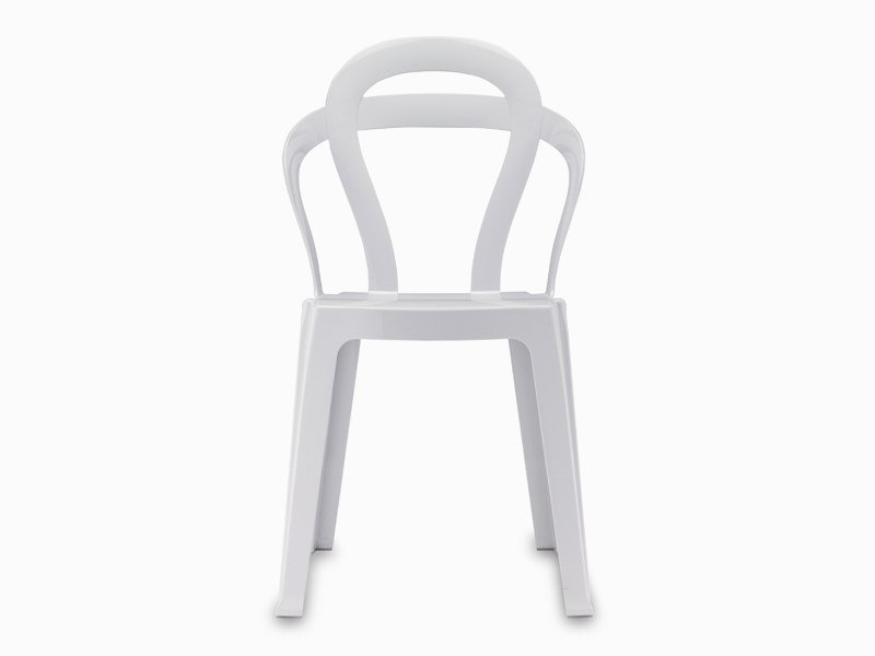 Stackable polycarbonate chair with armrests TITÌ by SCAB DESIGN