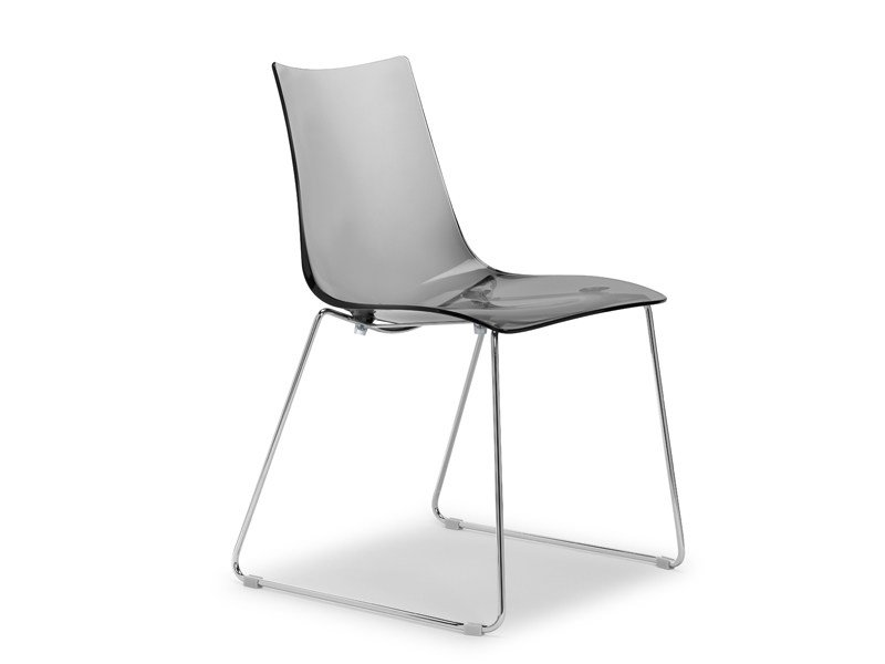 Sled base stackable polycarbonate chair ZEBRA ANTISHOCK | Sled base chair by SCAB DESIGN