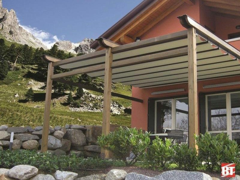 Laminated wood pergola R131 PERGOGARDEN by BT Group