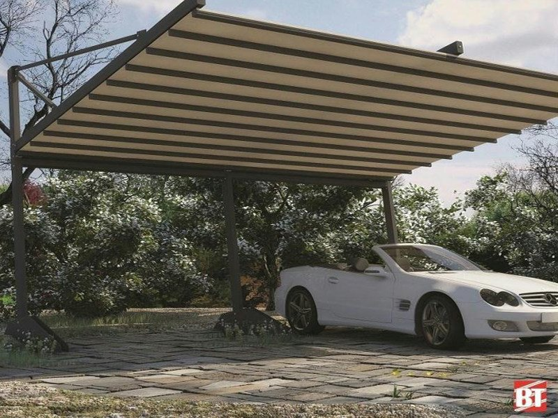 Steel porch for parking areas R160 PERGOPARK by BT Group