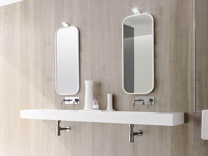 Wall-mounted Corian® washbasin UNICO | Double washbasin by Rexa Design