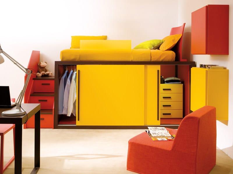 Loft single bed 7060 | Bed by dearkids