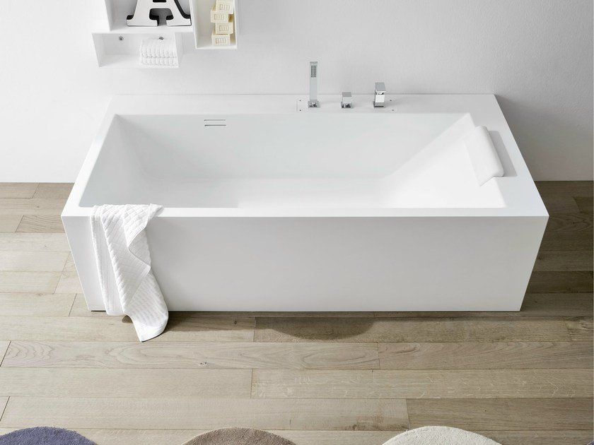 Beautiful Rectangular Corian® Bathtub UNICO | Rectangular Bathtub By Rexa Design