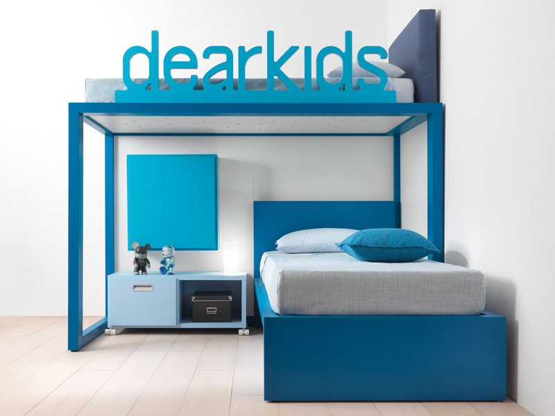 Loft solid wood bed 9010 | Bed by dearkids