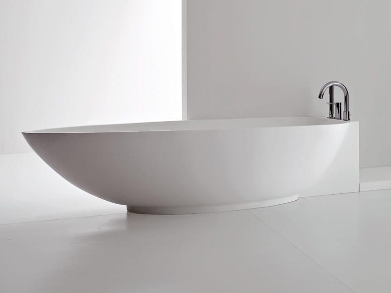 Vasca da bagno angolare ovale in Korakril™ BOMA | Vasca da bagno angolare by Rexa Design