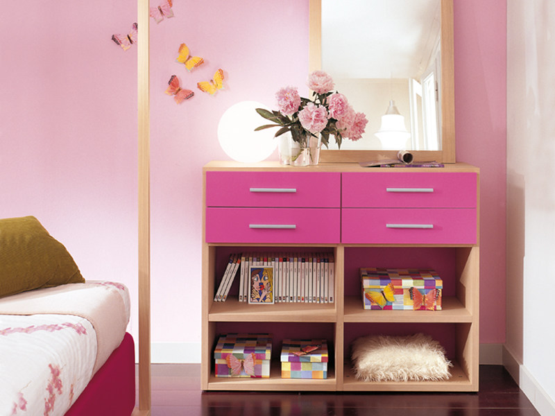 Lacquered kids bookcase with drawers 4004 | Kids bookcase by dearkids