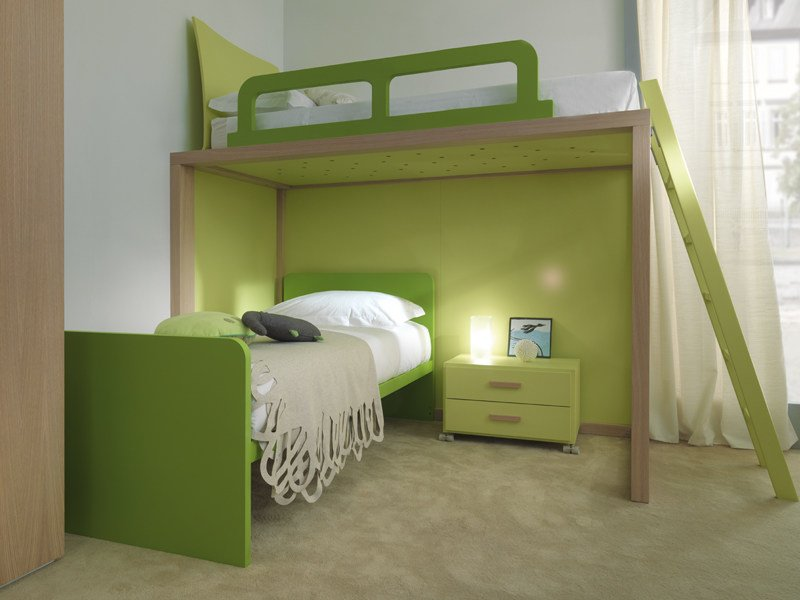 Loft solid wood bed 9007 | Bed by dearkids