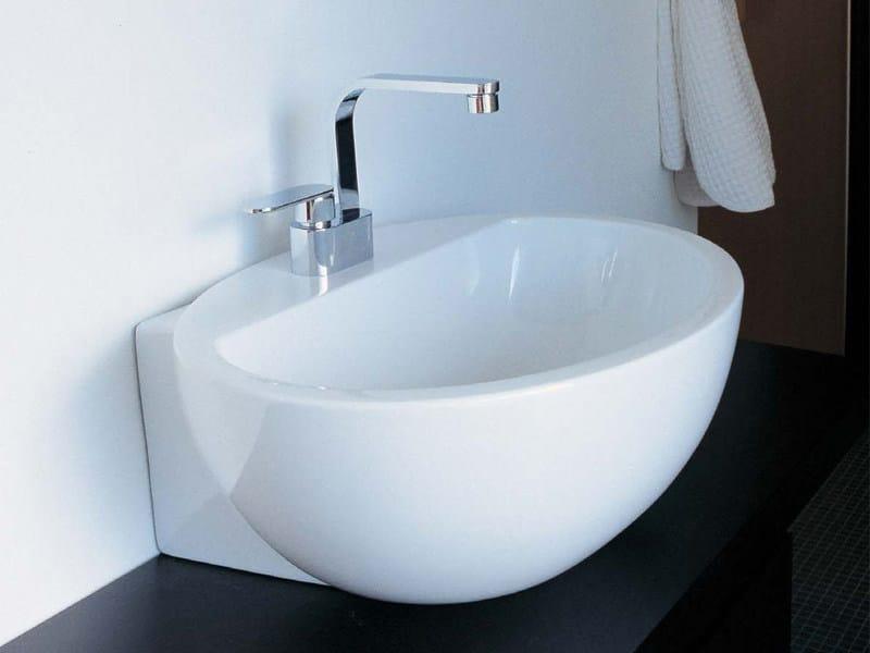 Countertop ceramic washbasin DIP by CERAMICA FLAMINIA