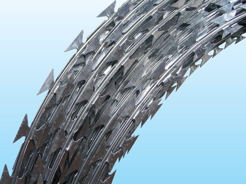 Barbed wire, drawn steel wire RAZOR WIRE - CONCERTINA by Ferro Bulloni