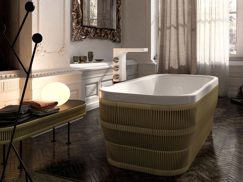 PEARL | Rectangular bathtub By Glass1989 design Monica Graffeo