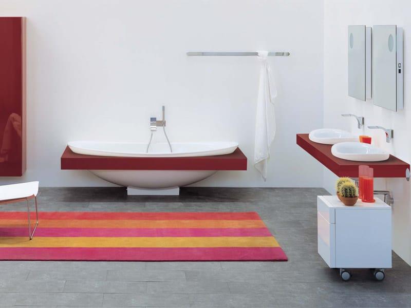 Ceramic bathroom furniture set IO   Bathroom furniture set by CERAMICA FLAMINIA