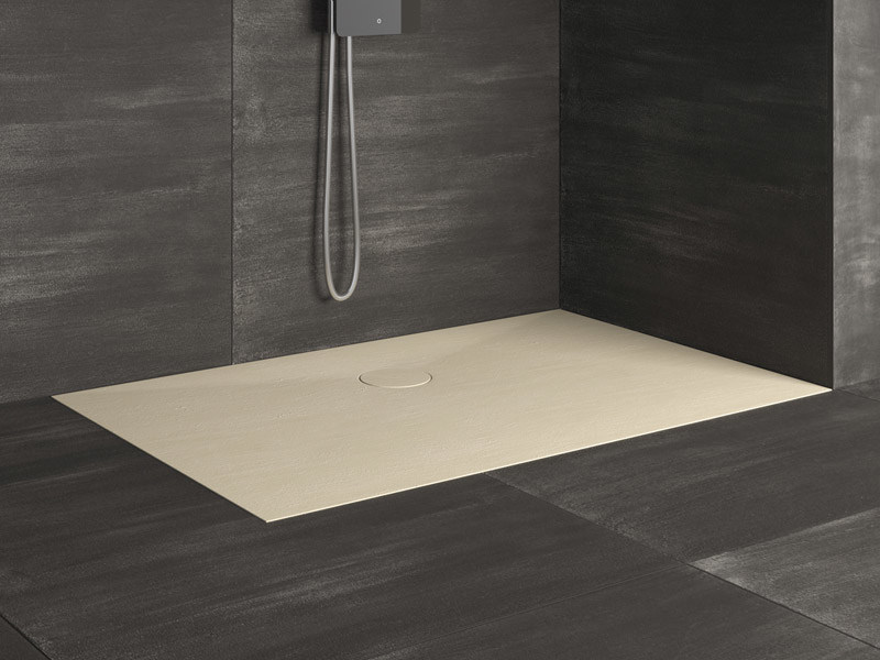 foto de Piatto doccia filo pavimento rettangolare RAZOR Piatto