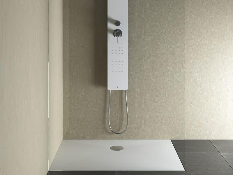 Flush fitting rectangular shower tray SET | Rectangular shower tray by Glass1989