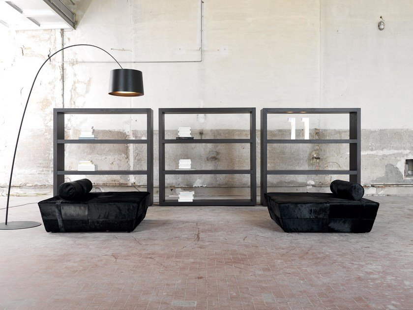 Upholstered velvet pouf NEWHALL | Upholstered pouf by Domingo Salotti