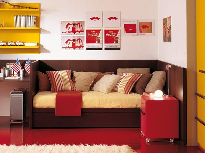 Wooden single bed 4006 | Bed by dearkids