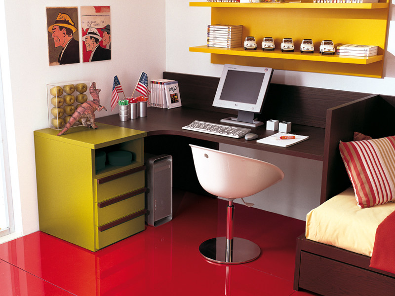 Rectangular Kids writing desk with drawers 4006 | Kids writing desk by dearkids
