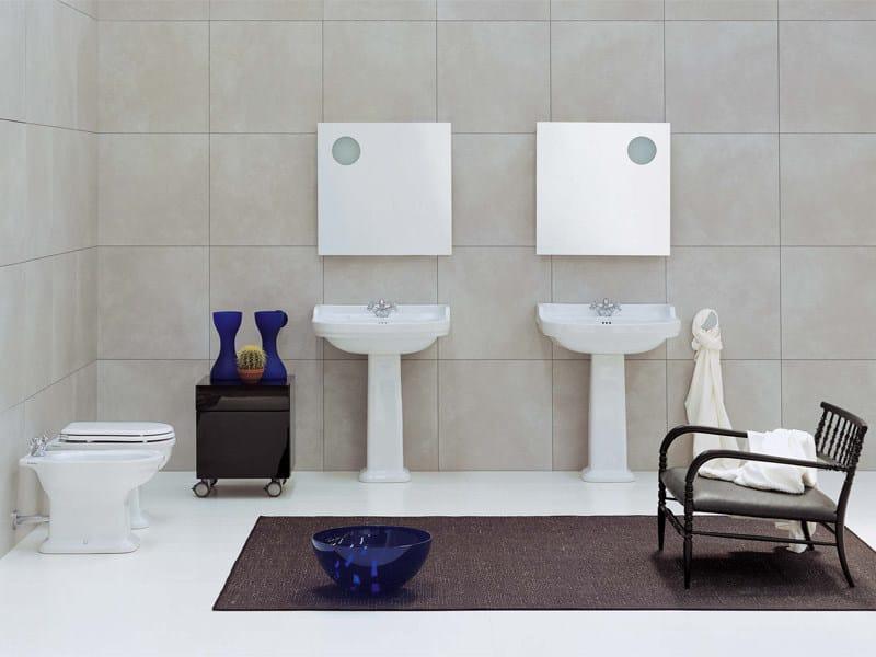 Ceramic bathroom furniture set EFI | Bathroom furniture set by CERAMICA FLAMINIA