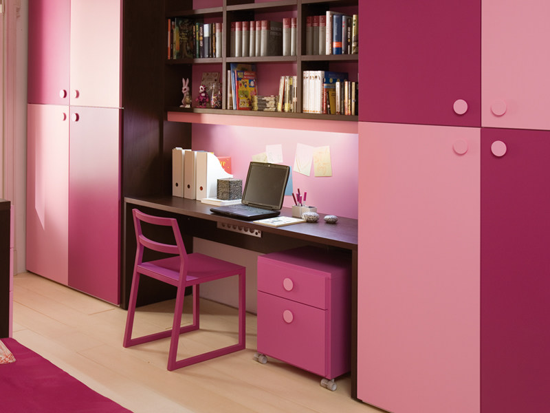 Writing desk with bookcase 7040 | Writing desk by dearkids