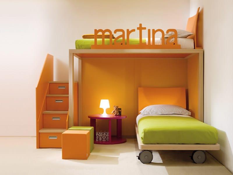 Loft single bed 7020 | Bed by dearkids