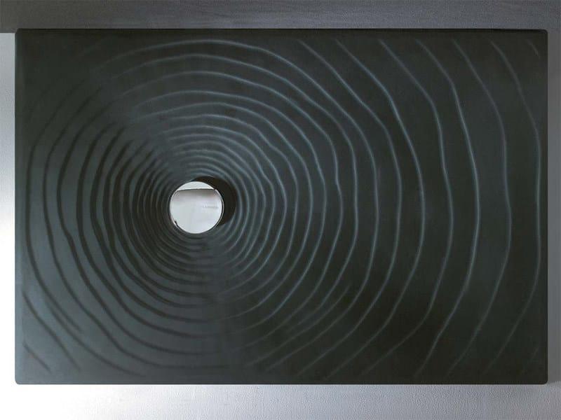 Rectangular ceramic shower tray WATER DROP 120 X 80   Ceramic shower tray by CERAMICA FLAMINIA