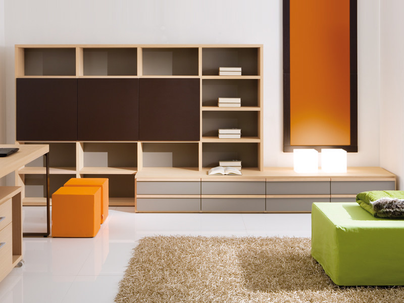 Sectional kids bookcase with drawers 7030 | Kids bookcase by dearkids