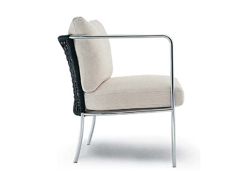 Stainless steel garden armchair with armrests CAFÉ | Garden armchair by Living Divani