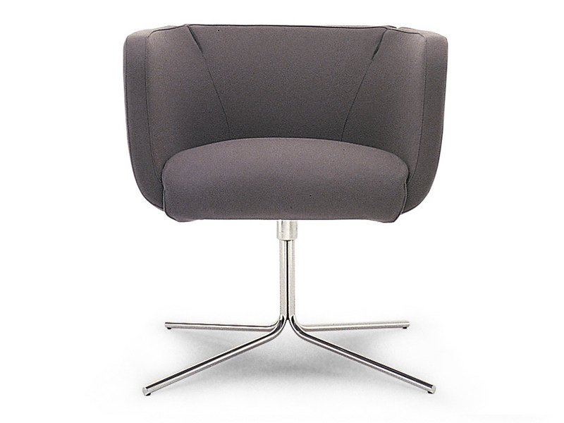Swivel easy chair with removable cover with 4-spoke base JELLY   Easy chair by Living Divani