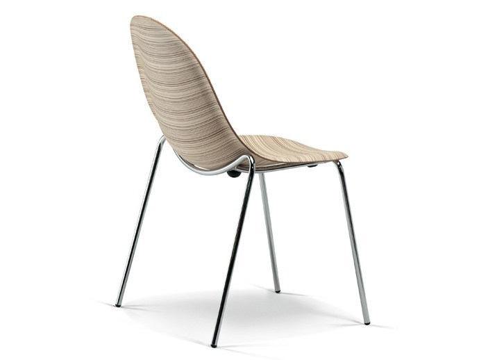 Stackable multi-layer wood chair LUNA | Chair by Plank