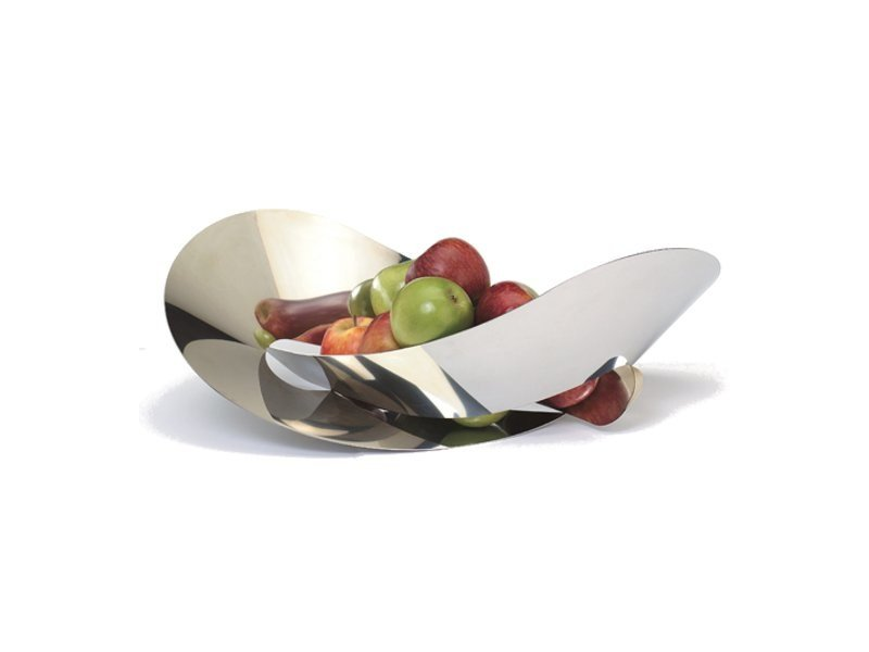 Stainless steel fruit bowl FLAT KNOT by Movisi