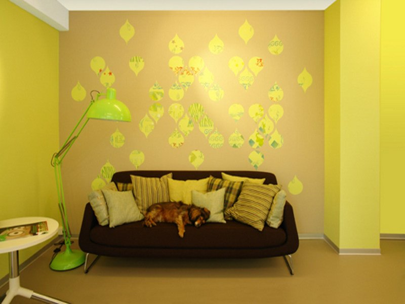 Motif vinyl wallpaper TEARS OFF by Movisi