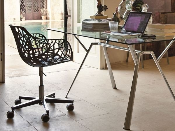 Task chair with 5-Spoke base with casters FOREST   Task chair by FAST