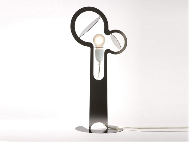Stainless steel table lamp ECLIPSE by Movisi