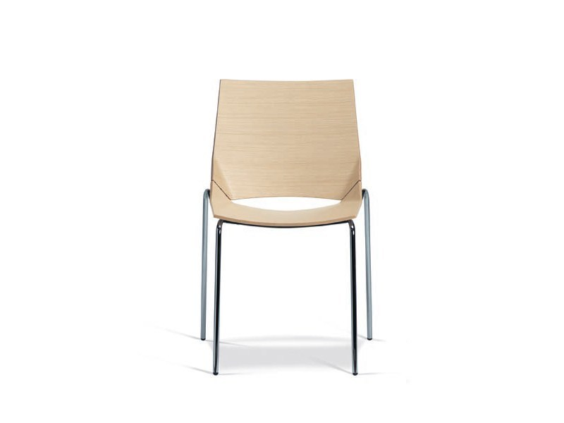 Stackable multi-layer wood chair PAPER by Plank