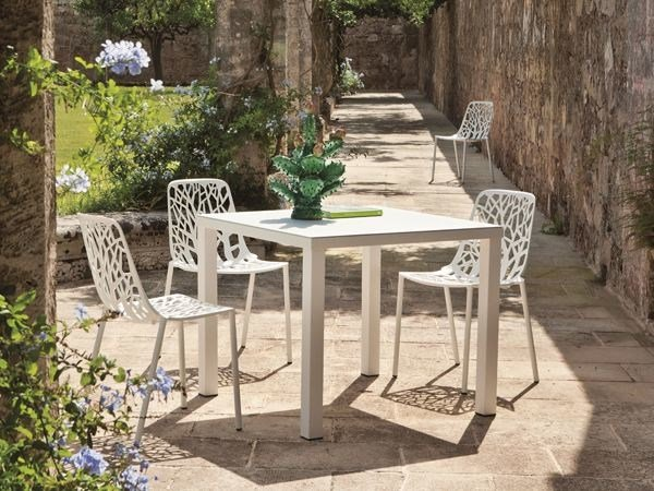 Square aluminium garden table EASY   Square table by FAST